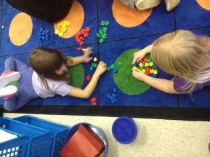 Colour sorting during Exploration time.