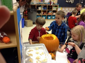 This pumpkin investigation was a hit!