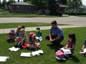 Taking time to wonder about community helpers and looked who came out to visit!